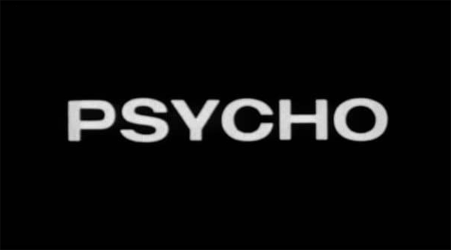 Psycho Title Card