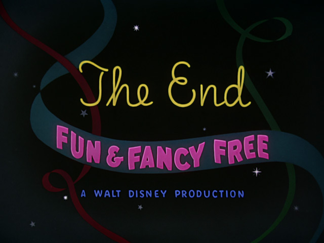 Fun and Fancy Free The End